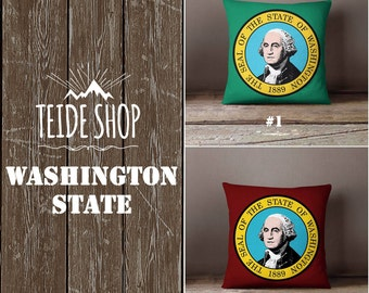 Washington State Pillowcase George Washington USA Home Decor Seattle Throw Pillow Cover Native American Gift Patriotic Decor Pillow Case