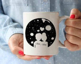 Personalized Couple Coffee Mug | Funny Designer Art Inspirational Mug Typography Qoute | Birthday Gift Idea | Motivation Mug | Tea Cup