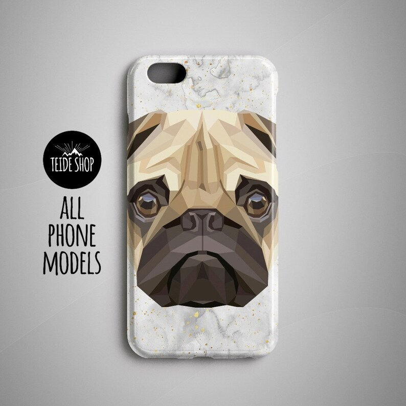 sale retailer 39781 aff47 Geometric Pug iPhone 8 Plus Case iPhone 8 Case iPhone 7 Case Phone Case  iPhone 5S Case iPhone 6S Case iPhone 7 Plus Case Dog Gift Pet Gift
