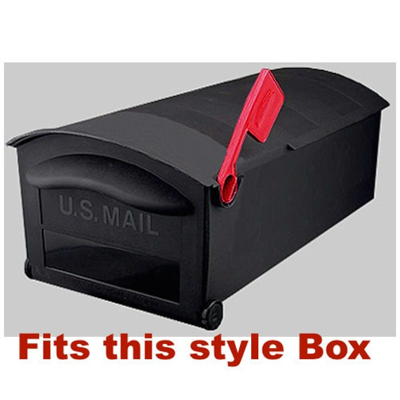 Plastic Replacement Flag for Rubbermaid Large Capacity Mailbox-Snap Fit Red