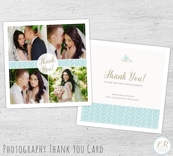 Wedding Photography Thank You Card Template Photography Etsy