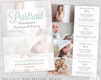 Photography Pricing Guide, Photoshop Template, Marketing, Price Sheet, Photography Pricing Template, Photographer, Price List - 01-007