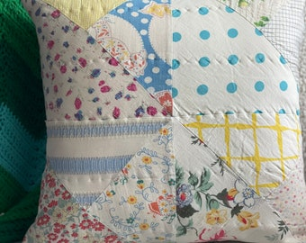 Vintage Seattle Quilted Pillow Cover