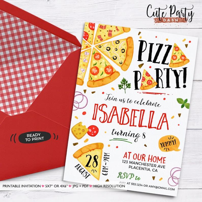 Pizza Party Invitation Printable Making Birthday