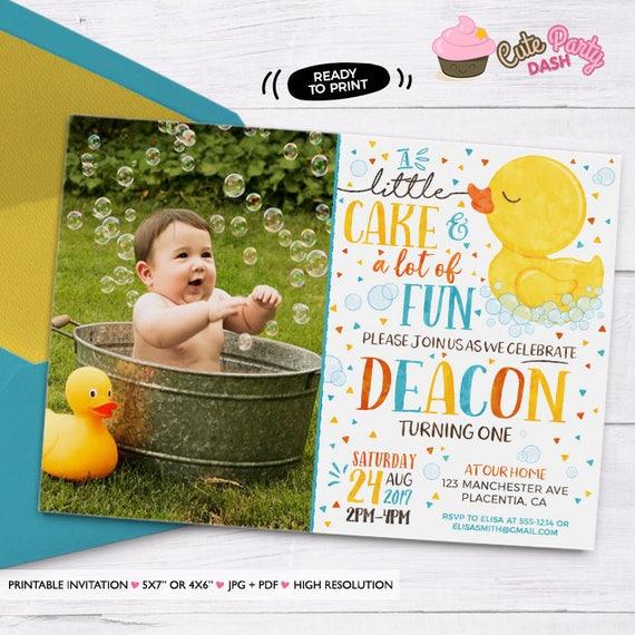 Rubber ducky birthday invitation yellow rubber duck birthday etsy image 0 filmwisefo