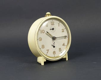 French vintage JAZ clock, alarm clock