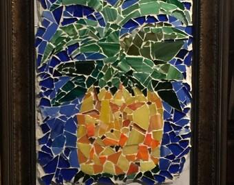 Tropical Pineapple - Framed Mosaic
