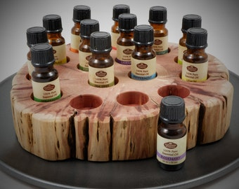 Essential Oil Holder Display Stand in its Natural State No Finish Applied (15 Bottles) FREE SHIPPING