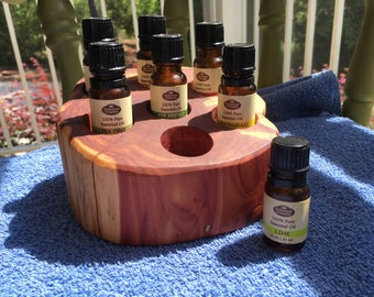 Essential Oil Holder Display Stand (7 Bottles) Free Shipping