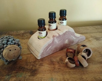 Essential Oil Holder Display Stand No Finish Applied (3 Bottles) FREE SHIPPING