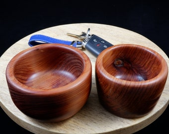 Hand Turned Set of Two Small Cedar Bowls FREE SHIPPING
