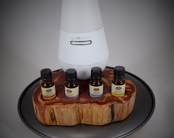 Essential Oil Holder Display Stand (4 Bottles) With Space for Your Diffuser FREE SHIPPING