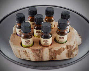 Essential Oil Holder Display Stand in its Natural State No Finish Applied (8 Bottles) FREE SHIPPING