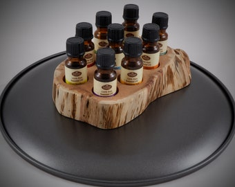 Essential Oil Holder Display Stand in its Natural State No Finish Applied (9 Bottles) FREE SHIPPING