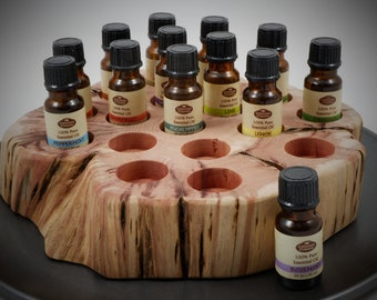 Essential Oil Holder Display Stand in its Natural State No Finish Applied (17 Bottles) FREE SHIPPING