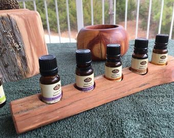 Essential Oil Holder Display Stand No Finish Applied (5 Bottles) FREE SHIPPING