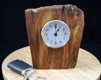 Quartz Clock Mounted in a Piece of Very Old Rustic Fatwood Pine  FREE SHIPPING