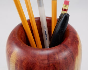 Hand Turned Aromatic Cedar Holder (Pen/Pencil) FREE SHIPPING