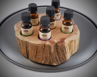 Essential Oil Holder Display Stand No Finish Applied (6 Bottles) FREE SHIPPING