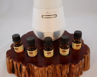 Essential Oil Holder Display Stand (5 Bottles) With Space for Your Diffuser FREE SHIPPING