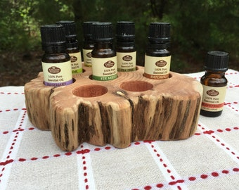 Essential Oil Holder Display Stand No Finish Applied (8 Bottles)