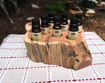 Essential Oil Holder Display Stand No Finish Applied (14 Bottles)