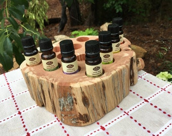 Essential Oil Holder Display Stand No Finish Applied (15 Bottles)