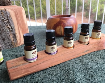 Essential Oil Holder Display Stand No Finish Applied (5 Bottles)