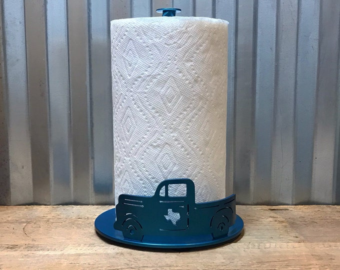 Old Truck Paper Towel Holder with Texas.