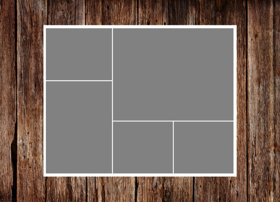 11 x 14 - Template - No.1 - INSTANT DOWNLOAD - Storyboard Template, Photo Collage Template