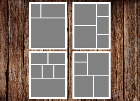 Storyboard Template Photo Collage Template 5 x 7 Template | Etsy
