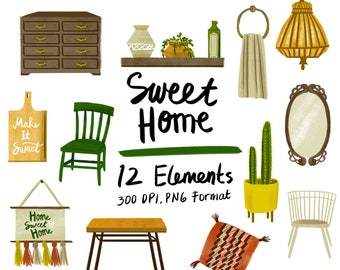 50% OFF Home Sweet Home   Home Properties Clipart