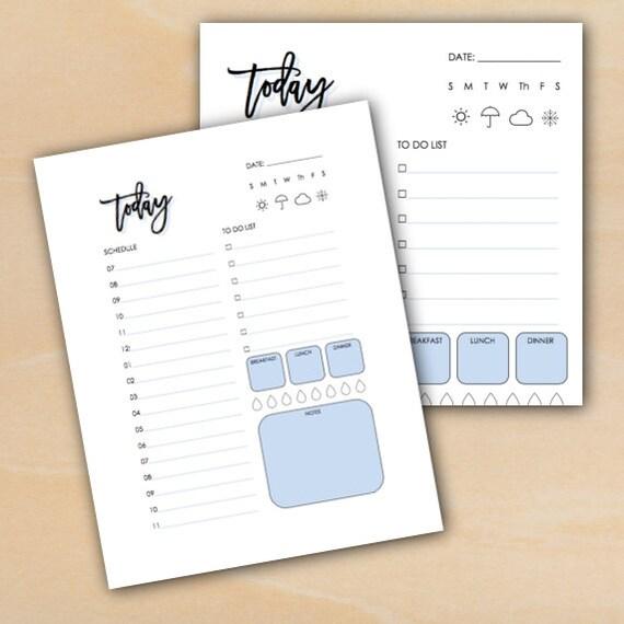 daily log tracking sheet bullet journal planner agenda etsy