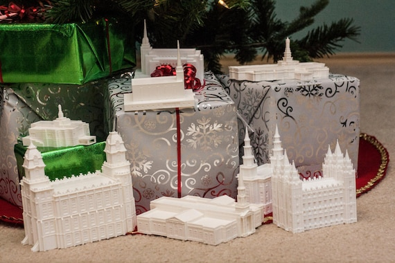 Boise ID  Temple Christmas Ornament