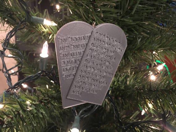 Ten Commandments Christmas Ornament Etsy