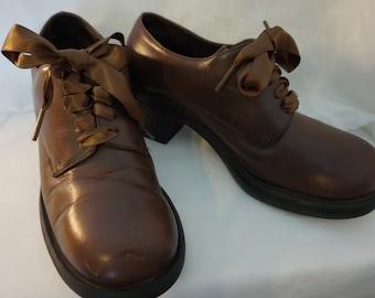 76daaf0134656 Leather oxfords sz 6 | Etsy