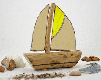 Treibholz Deko Segelboot, Geschenkidee, Schiff