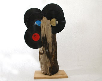 Original large driftwood as sculpture or decorative object, gift for music lovers