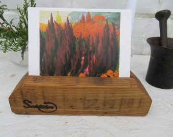 Photo stand, wood, reclaimed wood, picture holder, decoration, photo holder, storage, photo stand, wood, reclaimed wood, sustainable