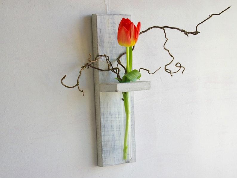 Pareti In Legno Shabby : Bianco shabby chic francese in legno staffa a muro da parete a