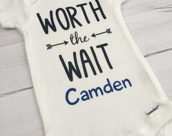 07d77a738 Worth the Wait Bodysuit Newborn Gift Baby Girl Coming Home