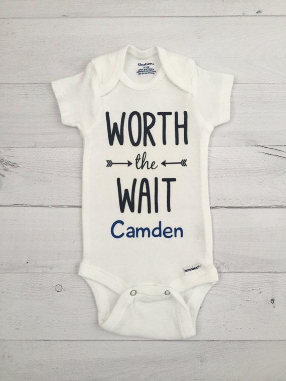 a901044de Personalized Worth the Wait ONESIE® Bodysuit Newborn ONESIE®