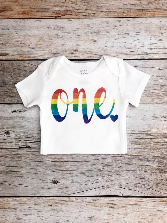 Rainbow Birthday Shirt Any Age Baby Girl Theme