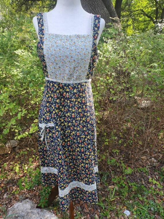 Vintage 70s dress small gunne sax homespun style … - image 1