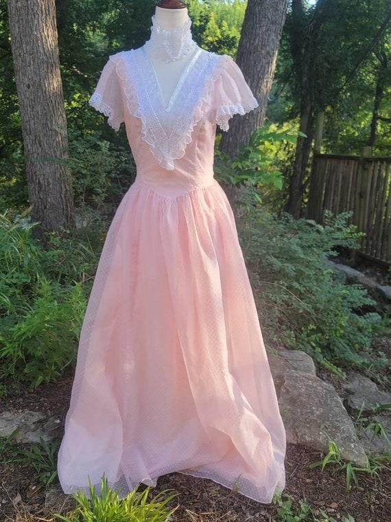 Vintage Gunne Sax Dress 9 princess Gunne Sax Swis… - image 1