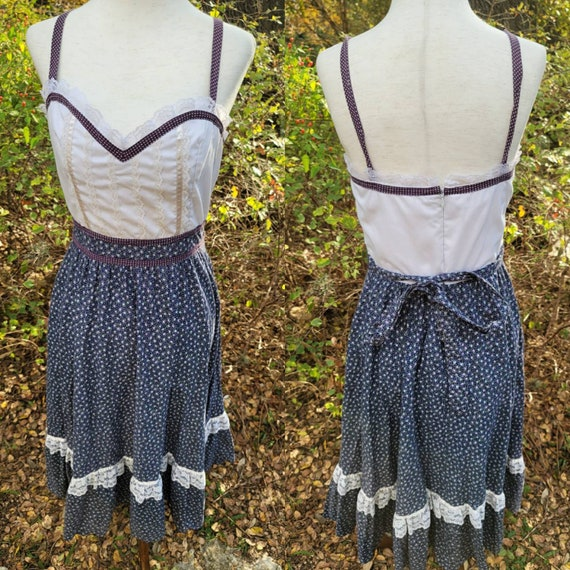 Vintage Gunne Sax Dress 9 Small Sundress  Sleevele