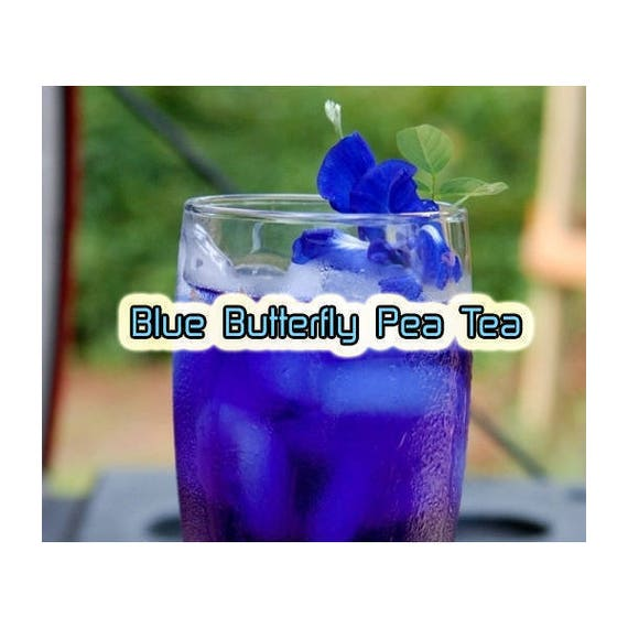 Natural Blue Food Coloring for Cake, Cookie, Food, Organic Anti Aging Tea ;  Organic Blue Butterfly Pea Flower Powder (35 OZ) - FREE SHIPPING