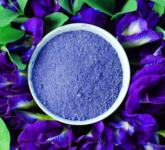 Organic Blue Butterfly Pea Flower Powder Natural Food | Etsy