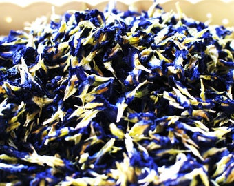 Organic Blue Butterfly Pea Flower, Natural Food Coloring for Cake, Cookie, Food Colouring ; (1 Kg) - FREE SHIPPING !