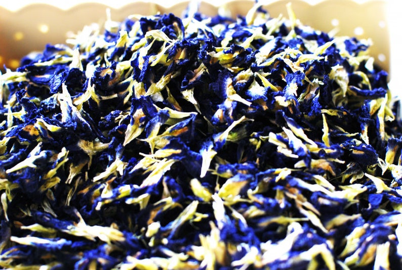 Organic Blue Butterfly Pea Flower Natural Food Coloring for | Etsy